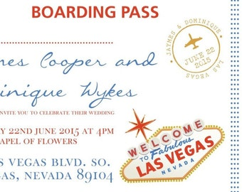 50 Personalised Destination Las Vegas Wedding Invitations!