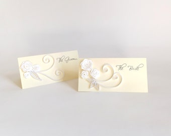 Wedding Place Card, Paper Quilled Wedding Decoration, Quilled Seating Card, Customisable Place Card, Wedding Reception, Wedding Name Card