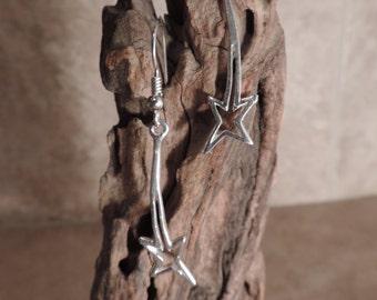 Shooting star sterling silver earrings