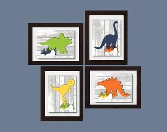 Impression dinosaure, dinosaure Nursery décor, garçons pépinière Art, Baby Boy Nursery décor, garçons chambre Wall Art, Art de mur de salle de jeux, décor de salle de jeux