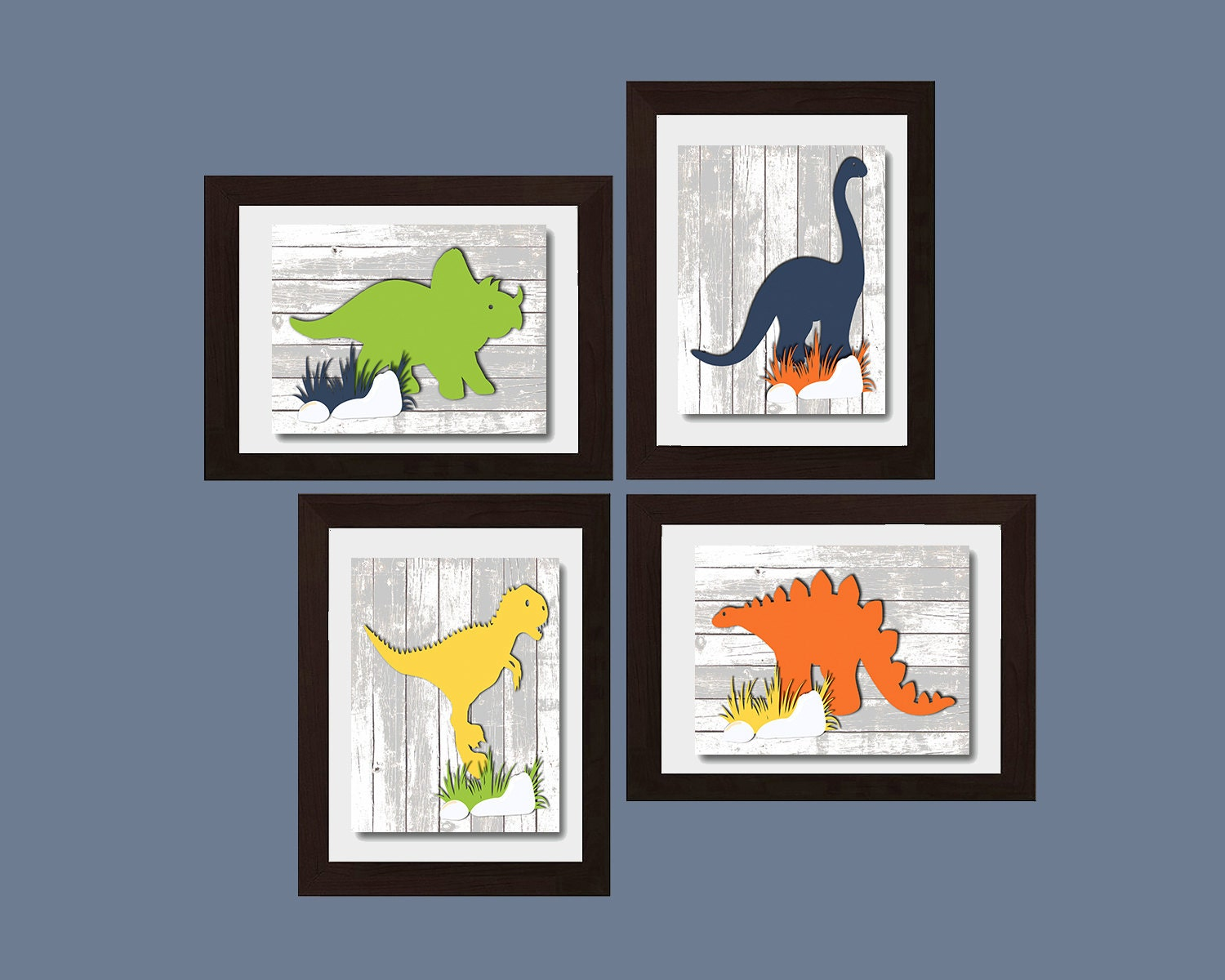 Dinosaur print dinosaur nursery decor boys nursery art baby - Boys room dinosaur decor ideas ...