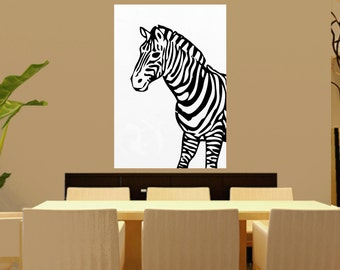 Zebra Abstract Painting Black and White, Minimalist Painting, Modern Art Painting, Contemporary Art, Oversized contemporary HandMade CANVAS