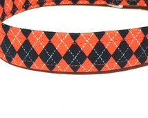Argyle Halloween Dog Collar ~ Boy Dog Collar ~ Coordinating Leash Available