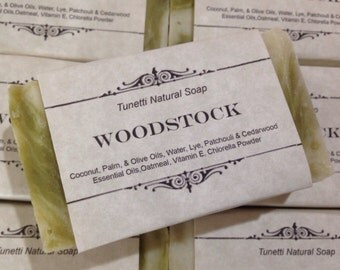 Woodstock Natural Homemade Soap, Handmade soap, Natural Soap, Cold Process Lye Soap