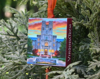 VIRGINIA TECH Ornament or Magnet / College Ornament or Magnet / Virginia Tech Mini Canvas Ornament or Magnet