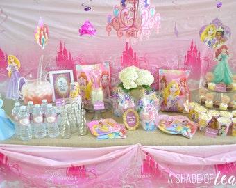 Disney Princess Party Decor, Printable Package