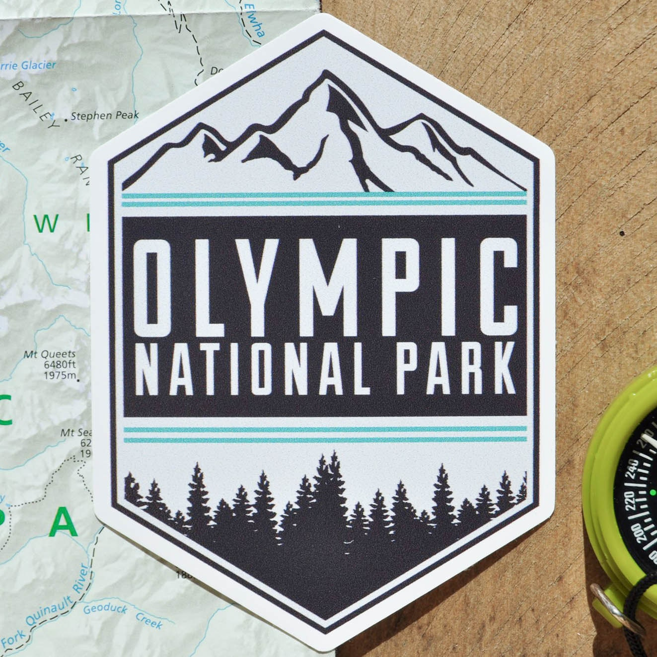 Vinyl Sticker Olympic National Park By Borealisadventureco