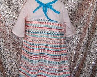 Gorgeous Pink Kimono Wave Dress Size 6