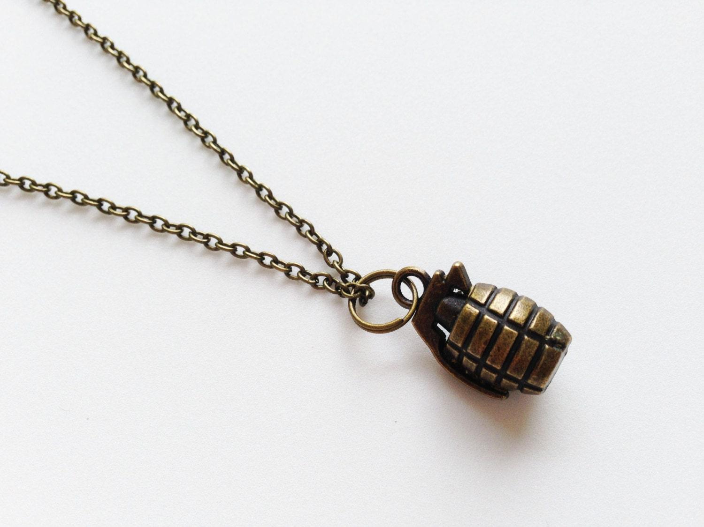 grenade necklace grenade pendant charm by zhuaccessories