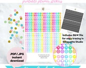 Item #0325-0326 Mini Circle Icons Stickers (perfect for planners)