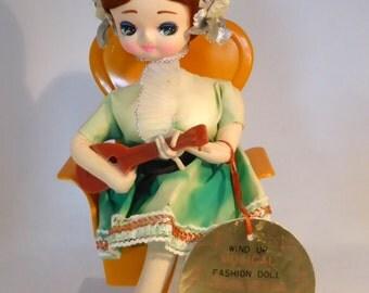 Musical Senpo doll - Mandolin - original from the 1970s