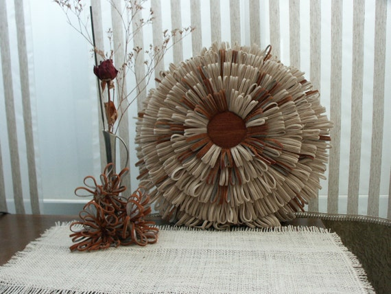 Decorative Pillow/ Pillow Flower/ Round Pillows/ Fluffy Pillow