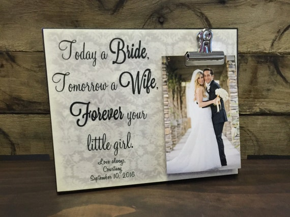 Wedding Gift For Dad And New Wife : ... Wife Frame, Mother of the Bride, Father of the Bride, Wedding Gift