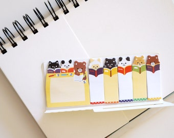 SALE Cute Animals Sticky Notes • Post-it • Planner Page Marker • Bookmark • Post-it Flags