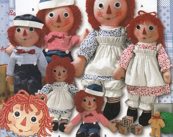 Raggedy Ann and Andy Doll & Clothes Sewing Pattern, Doll Sewing Pattern, Doll Clothes, Uncut Sewing Pattern, Simplicity 9447
