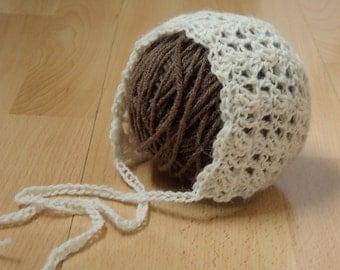 Newborn Bonnet, 100% Alpaga, made to order