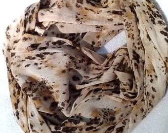 Animal Knit Mesh Infinity Scarf, 8.5 x 72, Infinity Scarf, Infinity Scarves, Knit Infinity Scarf, Knit Infinity Scarves, Animal Mesh Scarf