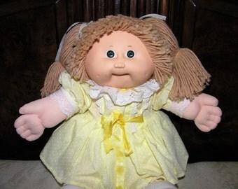 Vintage Cabbage Patch Kid Doll~ #5 HM Lion Mane/ Green Eyes