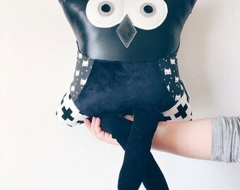 Stuffed Batman owl pillow plush super hero boys