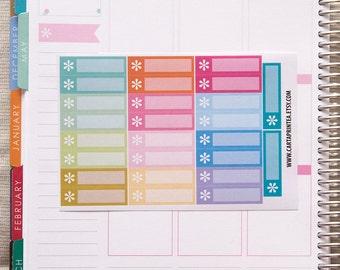 26 blank stickers, asterisk box stickers, blank label, work office stickers, planner stickers, important eclp filofax happy planner kikkik
