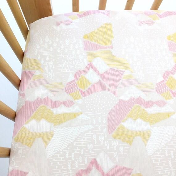 Organic Crib Sheet - 'Lore' Olympus in Pink - MADE-to-ORDER