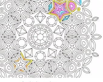 Christmas Mandala Coloring Page Christmas Eve printable