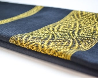 Black & Gold Scarf / Handmade Scarves / Spring Scarf / Gift For Her / Office Scarf / Women Scarves / Fashion Accessories / Made in Ethiopia