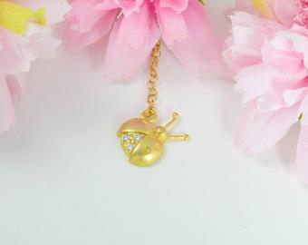Ladybug necklace, Luck necklace, Gold ladybug necklace, Ladybug necklace gold, Lucky necklace, Animal necklace, Insect necklace