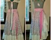 Bohemian Dress, Festival Dress, Prairie Dress, Gypsy Dress, Hippie Dress, Shabby Chic Dress, UPcycled Dress, Ready to Ship