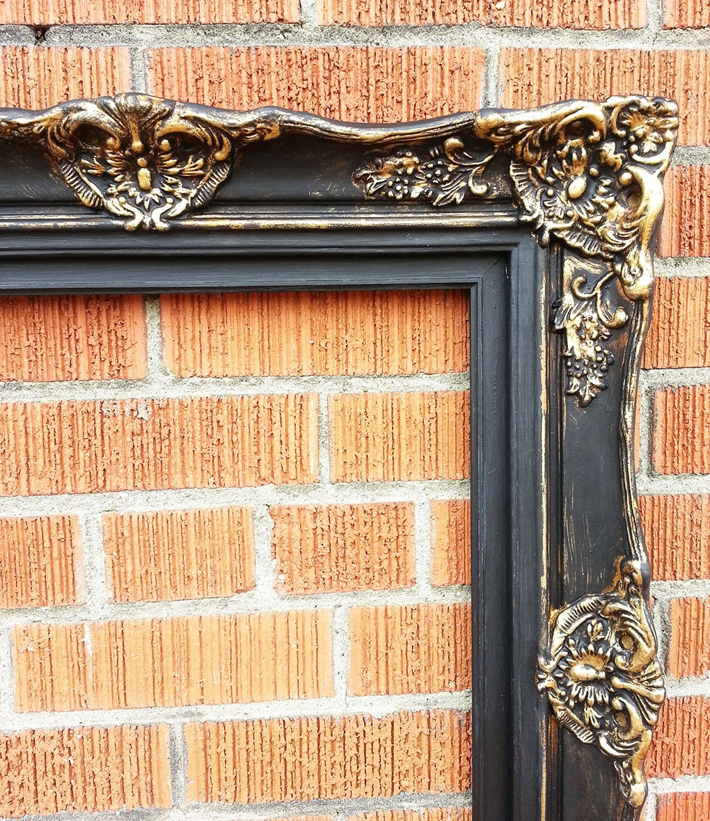 Ornate picture frame wood resin gold leaf and liquid for Bungalow style picture frames