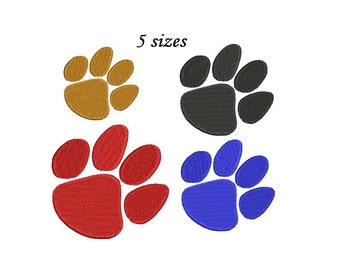 Paw Embroidery Design - 5 sizes Instant Download print