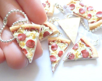 Fun Pizza Accessory or Jewelry : Necklace, Dust plug or Charm