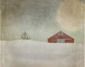 Winter Barn, Fine Art Print