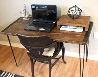 rustic wood office desk. desk table wood computer reclaimed rustic office d