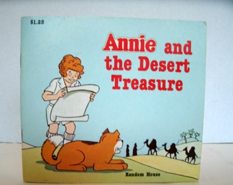 Annie and the Desert Treasure, 1980s Vintage Children's Book, Little Orphan Annie, Cartoon, 1982, Comic Strip