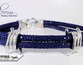 Stingray Bracelet 18kt White Gold  Diamond - Bloom Jewellery