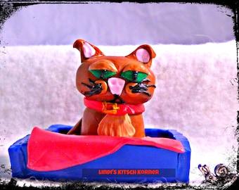Cuthbert cat figurine, kawaii, meow pet