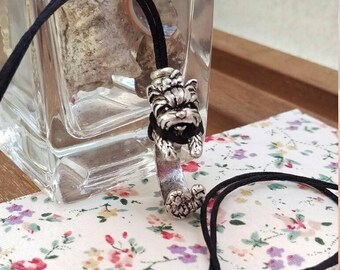 Yorkshire Terrier Necklace, Silver.