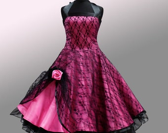 Beautiful evening gown with covered lace