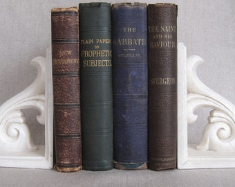Antique Christian Book Bundle, Decorative Book Set