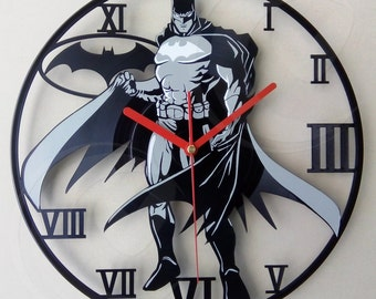 Vinyl wall clock - Bat man