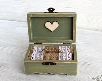 Jewelry Cottage Chic box, Ring Box, Wedding box, Personalized Box Rustic Wedding Box Bearer Box, Rustic Ring Box Ring Holder, Rustic wedding