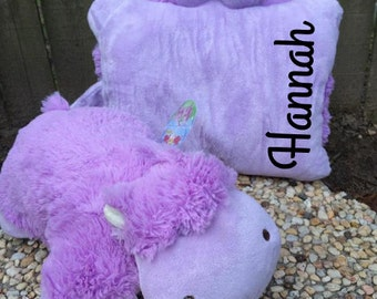 Personalized Hippo Pillow Pet - Valentine's Day Gift