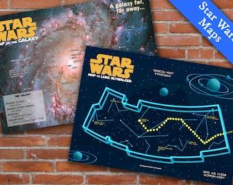 "PRINTABLE Star Wars Posters ""Star Wars Maps"""