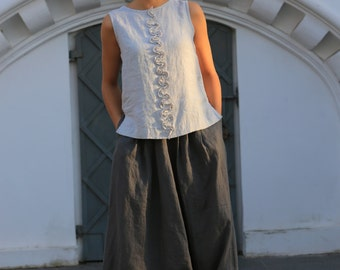 Harem linen pants. Loose linen pants / Natural Linen pants / Linen trousers / Casual loose linen pants