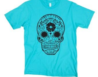 Women's Sugar Skull Shirt- Dia De Los Muertos Tshirt- Skull Tshirt- Skull T-Shirt- Sugar Skull Clothing- Mexican Art Tshirt- RKBK