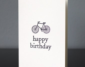 Handmade Bicycle Birthday Card