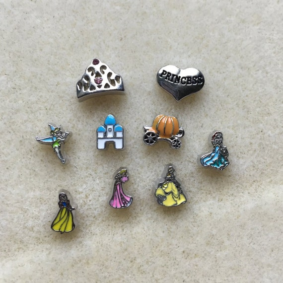 princess floating charms for lockets by kraftykatzboutique