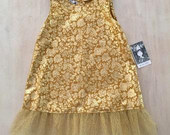 Gold Metallic Tutu Dress