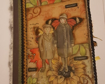 Junk Journal, Autumn Magic Fall Journal, Smash Book, Handmade Journal